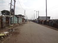 Die Hauptstraße von Korogocho