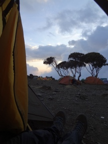 beeindruckende Aussicht aus dem Zelt