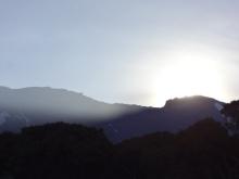 Sonnenaufgang über dem Kili
