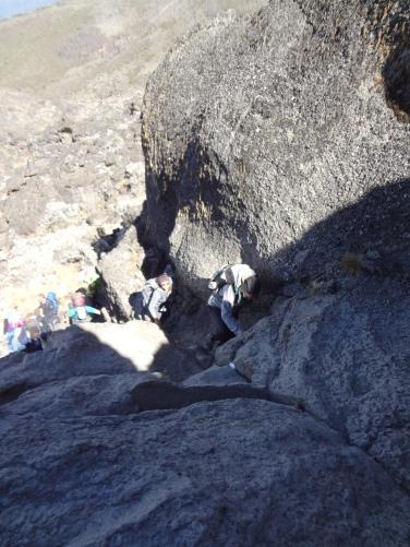 ich beim Erklimmen der Felswand