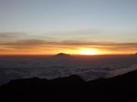 Sonnenaufgang, endlich ganz oben