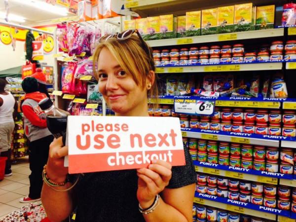 Ich wurde als Kassenschließungsverantwortliche gleich im Supermarkt angestellt...