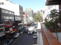 Blick auf die Long Street in Kapstadt vom Backpackers aus