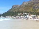 Muizenberg Haialarm... plötzlich war das Wasser leer und der Strand übervoll