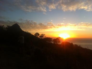 Sonnenuntergang auf dem Signal Hill