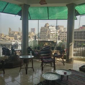 Ausblick von der Terrasse des Hotels
