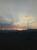Sonnenuntergang von unserem Haus aus